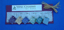 New listing Hancrafted Connecticut artisan ceramic glazed Wine Charms~Gift claycreations