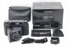 TOP MINT Fuji GF670 Professional Black Medium Format w/80mm f3.5 Lens aus Japan