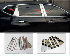 For 14-17 Nissan Rogue X-Trail 8pcs Stainless Window Chrome Pillar Posts Cover