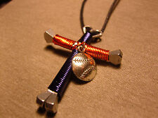Detroit Tigers Disciples Cross style  Necklace with baseball charm
