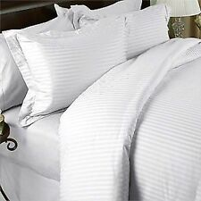 COTTON SATEEN STRIPES FLAT SHEET 300TC HOTEL BEDDING COLLECTION