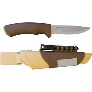 Mora Knives Bushcraft Fixed Blade Knife Brown Polymer Handle Plain Edge 13033