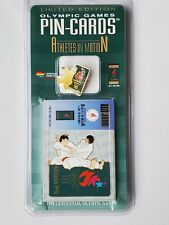 Olympic Judo Limited Edition Games Pin and event card Atlanta 1996