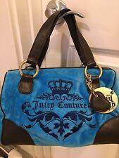 LN Royal Juicy Couture RN52002 Turqoise Velour Velvet Purse Handbag Satchel