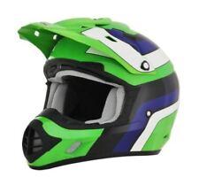 Caschi vintage verde moto per la guida di veicoli