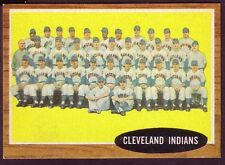 1962 TOPPS CLEVELAND INDIANS TEAM CARD NO:537 GH134 NEAR MINT