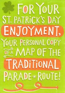 Funny Happy St. Patrick's Day Parade Route To Bar Table Restroom Hallmark Card