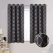 Anjee 63 Inches Blackout Curtains for Classroom with Foil Printed Classical Patt