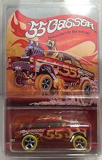 2016 Hot Wheels Super Treasure Hunt 55 Gasser CUSTOM Chevy Candy Striper Gold