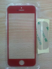 Cristal de Pantalla Digitalizador para Apple Iphone 5 5G 5S 5C Roja + Adhesivo