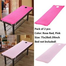2 Pack Spa Massage Table Sheet Cover Beauty Salon Bed Mattress Rose Red Pink