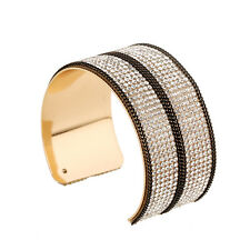 HOT Statement Celeb Glam Gold Crystal Cuff Bangle Bracelet by Rocks Boutique