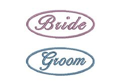 Wedding Patch Label Bride Groom Sew on Iron On Personalised Memento Keepsake