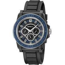 Breil Men's Watch with Black Dial Analogue Display and Black PU Strap TW0842