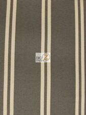OXFORD STRIPE OUTDOOR CANVAS WATERPROOF FABRIC - Brown - BY THE YARD ANTI-UV