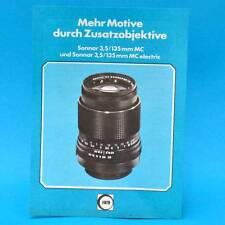 Sonnar 3,5 135 mm mc Electric 1978 | werbezettel publicidad RDA dewag Berlín C