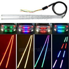 "24"" RGB LED Strip Light Kit Knight Rider Scanner Neon Grille Under Spoiler Hood"