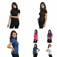 Blouse Polo Neck Unbranded Tops & Shirts for Women