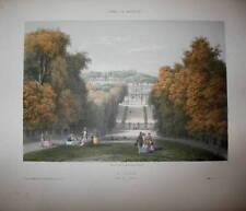 c1840 St. Cloud, Chateau - Farb-Lithographie von Deroy