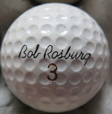 (1) BOB ROSBURG SIGNATURE LOGO GOLF BALL ( SEAMLESS MADE IN USA CIR 1969) #3