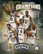 "2005 & 2007 San Antonio Spurs 8"" x 10""  Championship Composite Photos NEW"