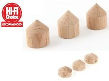 MCRU Oak CONO piedi | SCELTA HI-FI 5 STELLE RIVISTA | Set di 3 CONI