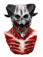 MASCARELLO Realistic Cave Demon Mask Skull Skeleton Scary Latex Halloween Dress