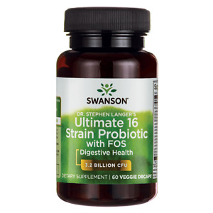 Swanson Dr. Stephen Langer's Ultimate 16 Strain Probiotic with Prebiotic Fos ...