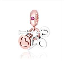 New  European cz silver beads charm pendant for 925 silver bracelet girl