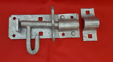 "4"" Zincato HEAVY DUTY padbolt Gate/Capanno Serratura Bullone Diapositiva serratura/catch"
