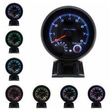 3.75'' Universal Tachometer Gauge Tacho Meter 7 Color LED Shift Light 0-8000 RPM