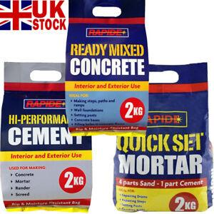 Rapide Hi-Performance Cement Ready Mixed Concrete Quick Set Mortar Bag 2kg