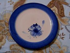 Marshall Pottery Hand Turned Plate 7.75 Inch Blue Flower