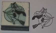 Sexy Witch on Broomstick Rubber Stamp by Amazing Arts