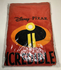 Vintage Deadstock NOS Disney Pixar The Incredibles Sofa Throw Blanket Promotion
