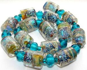 "Sistersbeads ""D-Seascape"" Handmade Lampwork Beads"