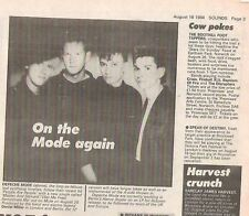 DEPECHE MODE Master and Servant 1984 small news item / ARTICLE / clipping