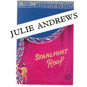 1948 JULIE ANDREWS early theatre programme Starlight Roof London