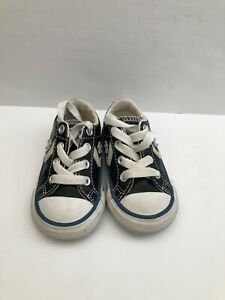 Converse Infants Size 4 Blue/ White Leather Shoes, #N353