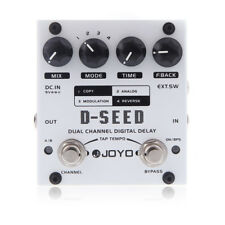 JOYO D-SEED Dual Channel Digital Delay Guitar Effect Pedal with Four Modes New