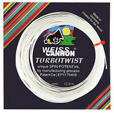 Weiss Cannon TurboTwist Tennis Racket String - White - 12m Set