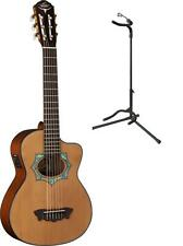 Oscar Schmidt Acoustic/Electric Requinto Guitar w/ Gig Bag & Stand, OH30SCE, OH