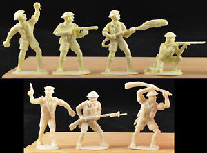 Charbens Recasts WWII British 8th Army - 12 in 7 poses 60mm plastic shades vary