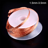 1PC 1.5-3.5MM 1.5M Desoldering Braid Solder Remover Wick Wire Repair Tool--