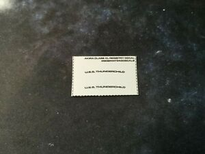 NO MODEL - XL USS THUNDERCHILD AKIRA CLASS REGISTRY DECAL - EAGLEMOSS STAR TREK
