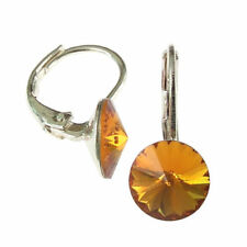 Hook Silver Plated Topaz Fashion Earrings