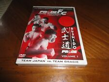 PRIDE Fighting Championships Bushido Vol. 1 DVD - MMA Fights JAPAN Gracie Shogun
