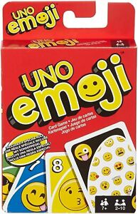 UNO Emojis Edition Card Game for 2-10 Players, Age 7 Years and Older DYC15 NEW