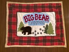 2 WOOLRICH KIDS BIG BEAR CAMPGROUND Standard Size Pillow Shams 26x20 Quilted