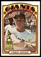 1972 Topps Chris Speier San Francisco Giants #165